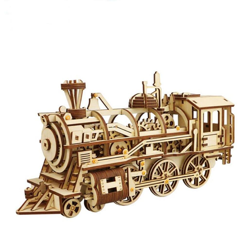 3d bricolage bois Puzzle ensemble Puzzle bébé jouet créatif 3d mécanique modèle en bois construction Puzzles jeu assemblage jouet enfants adulte