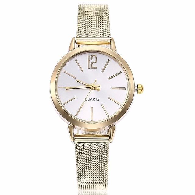 Relojes de cuarzo de malla para mujer