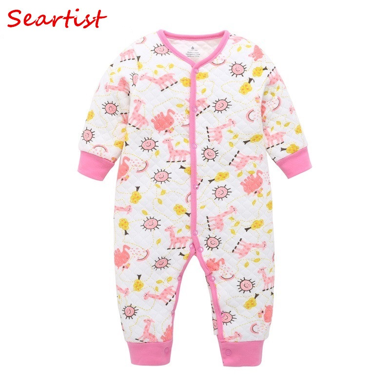 Seartist 2018 New Baby Girls Clothes Baby Boy Clothes Newborn Cartoon Spring Romper Bebes Clothing Body Suit Jumpsuit Romper 35C