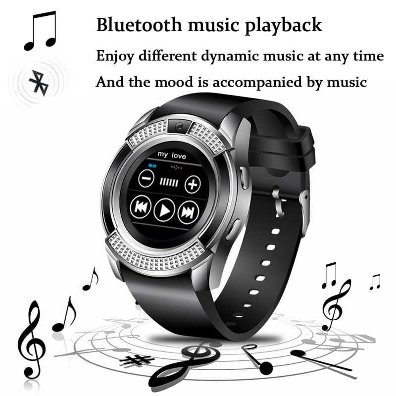 Ini Pria Wanita Jam Tangan Mendukung dengan Kamera Bluetooth SIM TF Kartu Smartwatch untuk Android Ponsel Pasangan + kotak