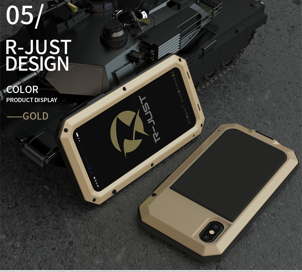 For iPhone X Tactical Waterproof Case (16)