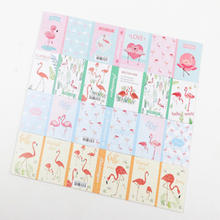 1pcs/lot Cartoon Flamingo Series Fold Sticky Notes Memo Notepad Writing Scratch Pad Message Paper Label