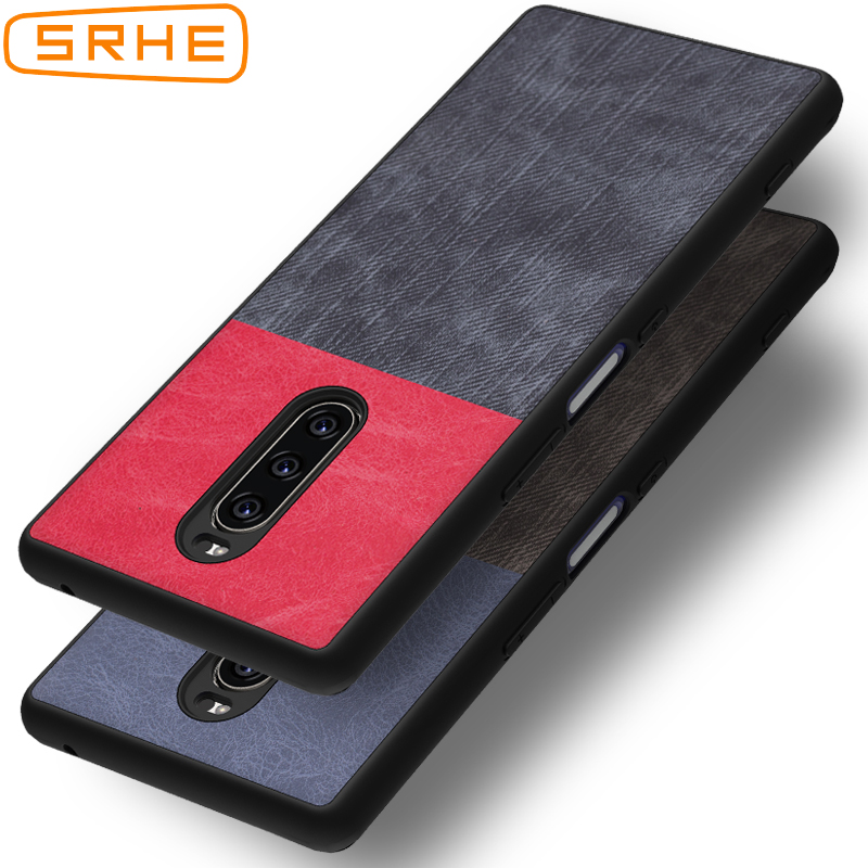 SRHE For Sony <font><b>Xperia</b></font> <font><b>1</b></font> <font><b>Case</b></font> Cover 6.5'' PU Leather and Denim Silicone Back Cover For Sony <font><b>Xperia</b></font> <font><b>1</b></font> Xperia1 J8110 J8170 J9110 image