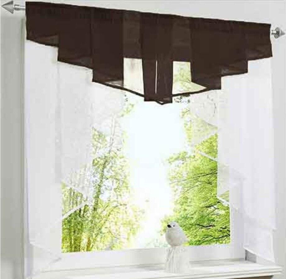 New Pleated Design Stitching Roman Kitchen Curtains Pelmet Window
