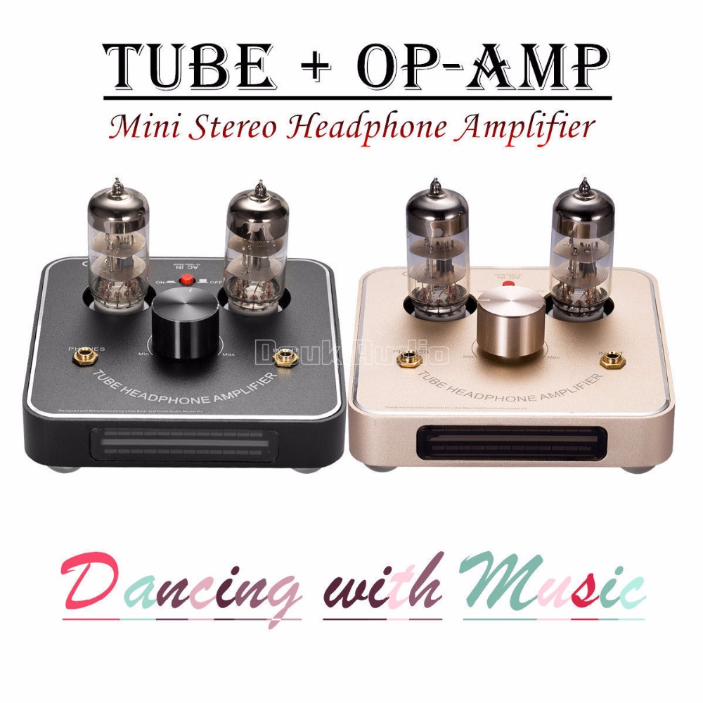 цена 2017 New Nobsound Mini HiFi 6C11 Vacuum Tube Headphone Amplifier Stereo Amp With VU Meter Black/Gold