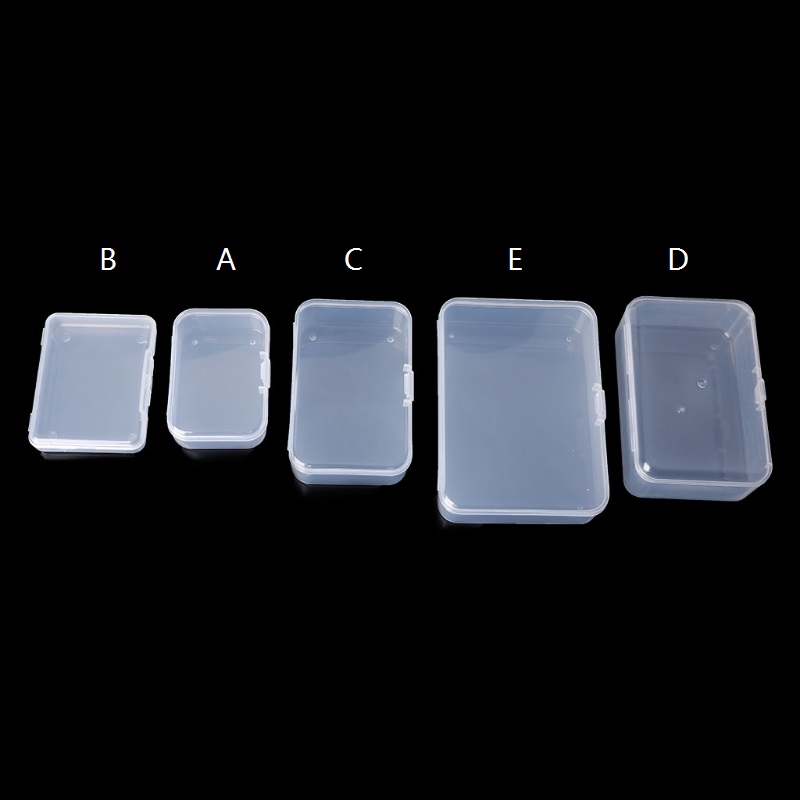 Rectangle Plastic Storage Case Collection Box Jewelry Container Business Card Box Hardware Tool Accessories Organizer Holder