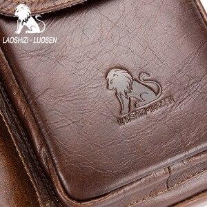 Image 5 - Men Genuine Leather Shoulder Messenger Bag mens Handbag Vintage Crossbody Bag Tote Business Man Messenger Bag