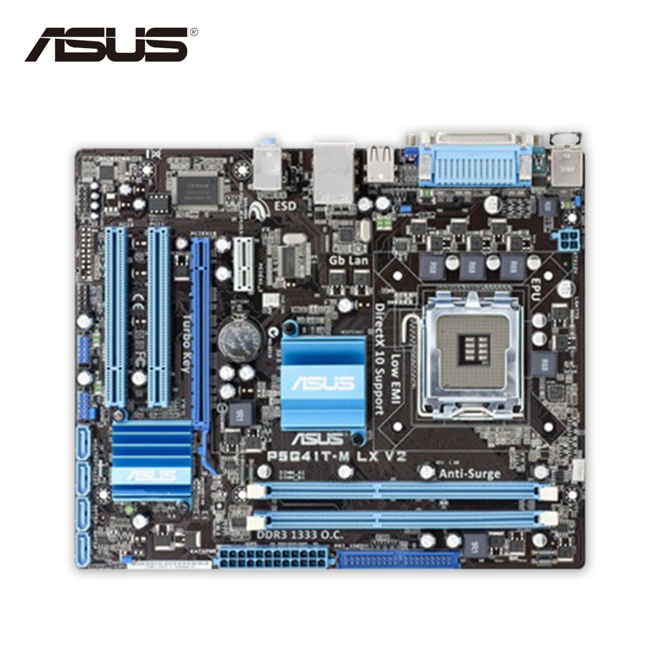 Asus P5G41T-M LX V2 Original Used Desktop Motherboard G41 Socket LGA 775 DDR3 8G SATA2 USB2.0 uATX hot hothot sales colorful boys girls students time electronic digital wrist sport watch free shipping at2 dropshipping li