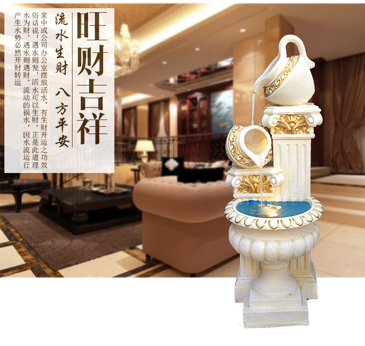 Lucky Large European Living Room Feng Shui Water Fountain Water Feature  Round Balcony Aquarium Decorations Ornaments Creative Hu In Shoe  Decorations From ...