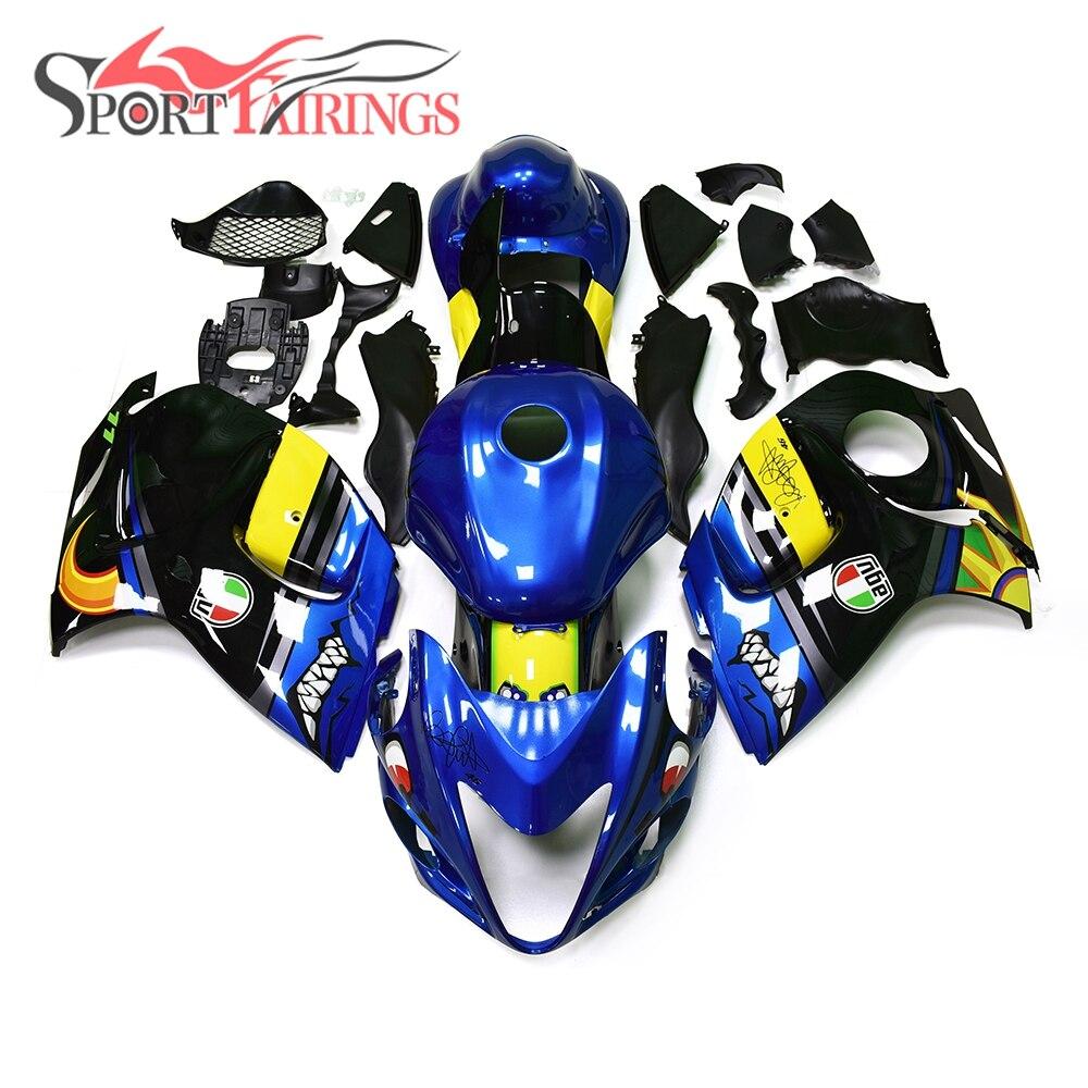 Shark Pieno ABS Carenature Per Suzuki GSXR1300 Hayabusa 08 09 10 11 12 13 14 15 2008-2016 Carenatura Del Motociclo Kit Blu Giallo nuovo