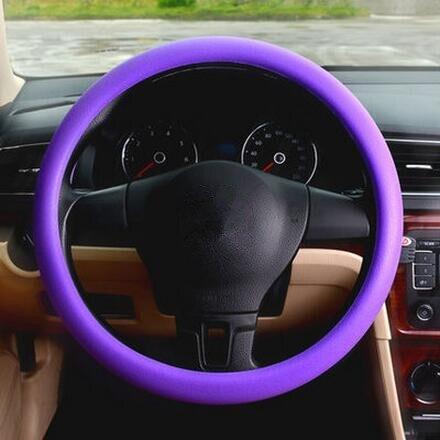 Car-styling Silicone Steering Wheel Skin Cover For FIAT EVO Sedici Linea Bravo FCC4 Viaggio Coroma Ottimo Uno