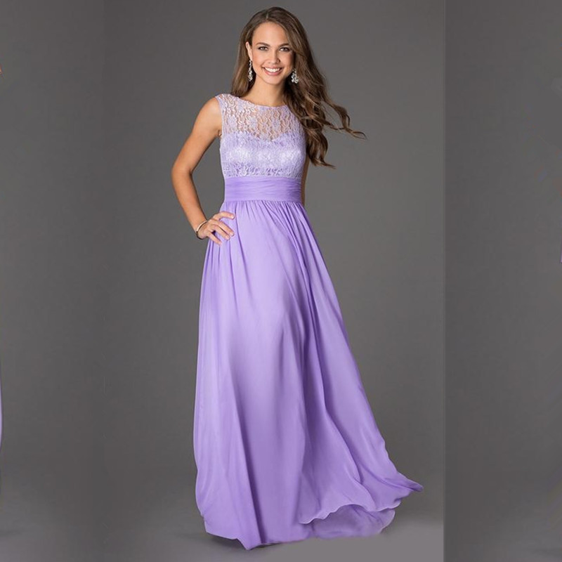 Purple Lace Maid of Honor Dresses for Weddings Promotion-Shop for ...