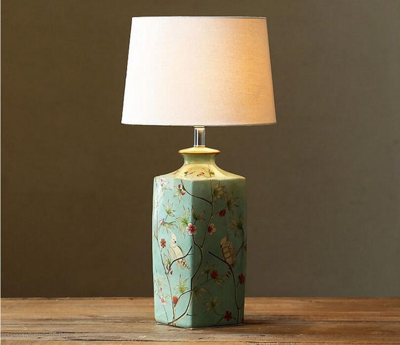 Спальня исследование Керамика настольная лампа современный Книги по искусству новый LED настольная лампа