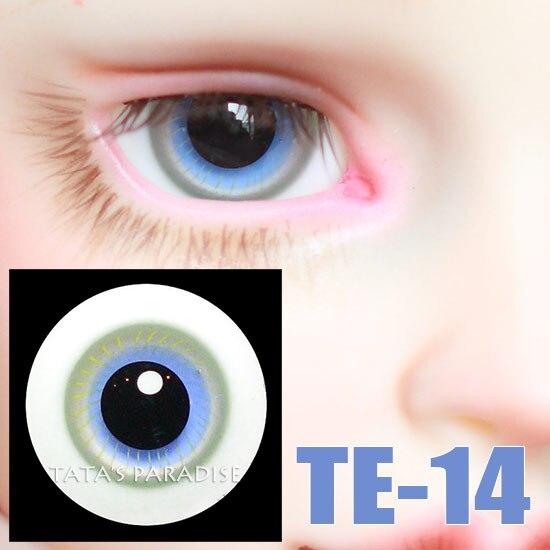 14mm BJD Eyes black pupil blue Eyeballs for 1 3 1 4 1 6 BJD SD