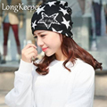 1PC Fashion New Women Spring&Autumn Causal Solid 3 Color Beanies Star Lettter Pattern Female Wrap Well Delicate Warm Hat