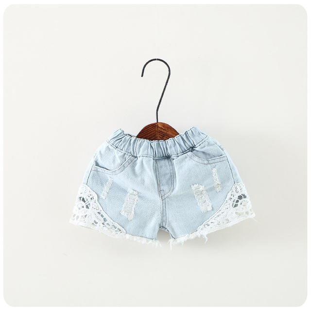 2018 summer baby girl shorts fashion girls lace Floral shorts jeans kids denim shorts Panties 2-12 Y baby wear 5