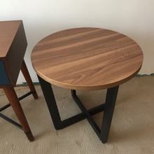 21 inch Round Wooden End Table