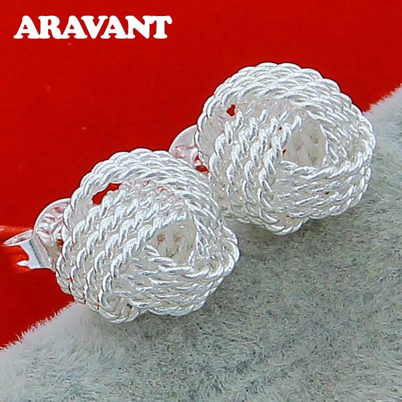 925 Silver Earring Minimalist Studs Earrings For Children Girls Jewelry