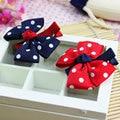 1Pcs Cute Design Girls Headwear Dot Bowknot Clips Ribbon Bow Hair Clips Hairpins Barrettes Hair Bows Hair Accessories For Girl