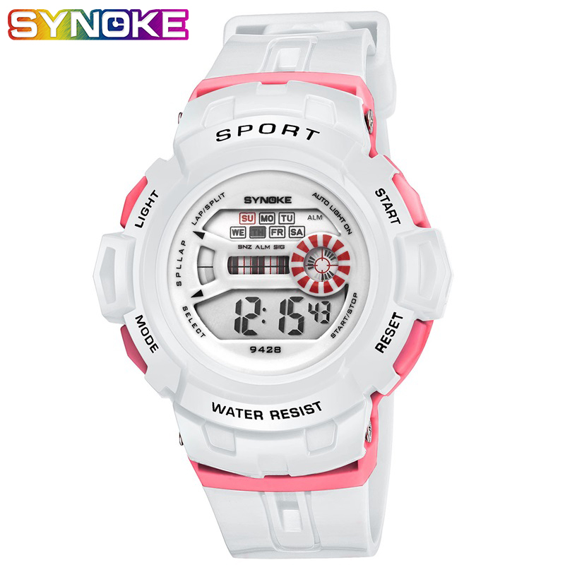 SYNOKE Watch For Kids Children Kids Digital Watch Outdoor Kids Sports Week Display Alarm Auto Date Watch Boys Watches Back Light