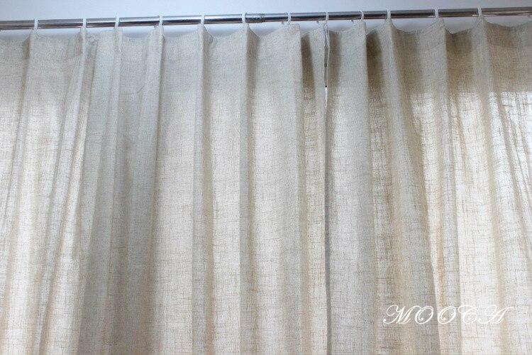 lavanda bordado cortinas de lino de la sala de estar terminado dormitorio cortina 175 x 180 cm una pieza cortina prpura en cortinas de casa y jardn en - Cortinas Lino