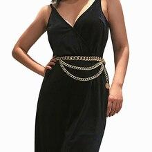 New Tassel Gold Chain Belt For Fashion Women Dress Designer Brand Luxury Punk Fringe Silver Waist Belts Female Ladies Metal X21