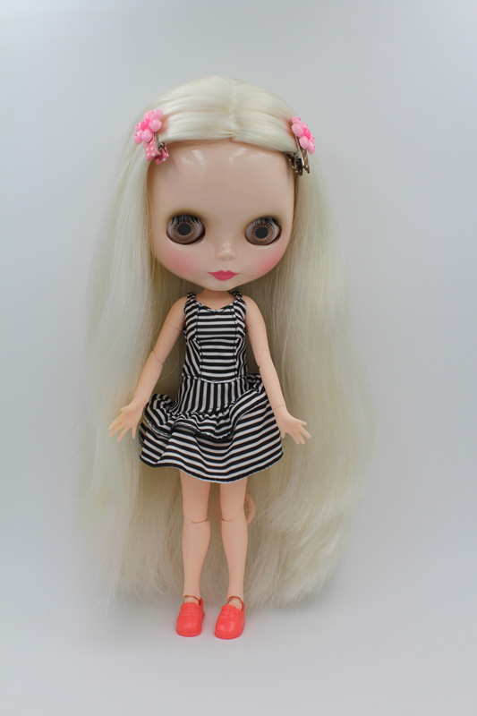 Free Shipping BJD joint RBL-242J DIY Nude Blyth doll birthday gift for girl 4 colour big eyes dolls with beautiful Hair cute toy free shipping transparent rbl 197t diy nude blyth doll birthday gift for girl 4 colour big eyes with beautiful hair cute toy