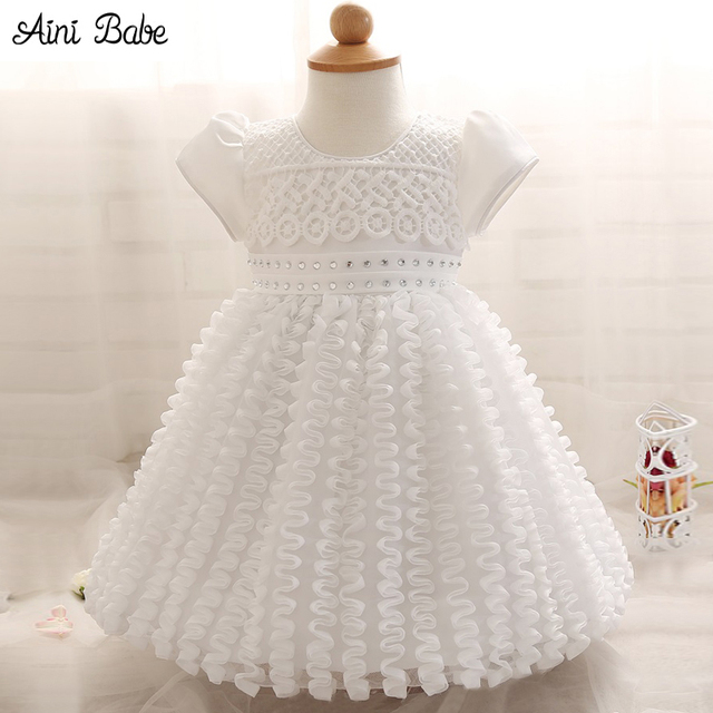 So Cheap Fdfcf 313e3 White Baby Girl Dress For Parties Weddings And Christening