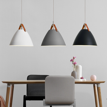 Modern Pendant Lights Cone LED White Pendant Lamp kitchen dining Room living bar Lighting Hanging Lamp luminaire Light Fixtures