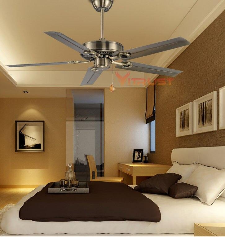 Retro Ventilatore A Soffitto di Casa Creativo Moderno Soggiorno Semplice Ventilatore A Soffitto Nordic Creativo Sala Da Pranzo Ristorante Ventilatore A Soffitto