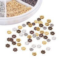 Flower Tibetan Silver Spacers Beads Cadmium Free Lead Free Mixed Color 4 5x1mm Hole 1mm About