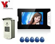 Yobang Security 7″ LCD Video Doorbell Intercom RFID Keyfobs IR Camera door bell and Video Doorbell Camera Stock Wholesale