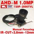 Hot Sale 2000tvl 720P 2.8mm-12mm Manual focusinghd  Finished Monito Mini camera hd chip module 3.0mp lens color image home Video