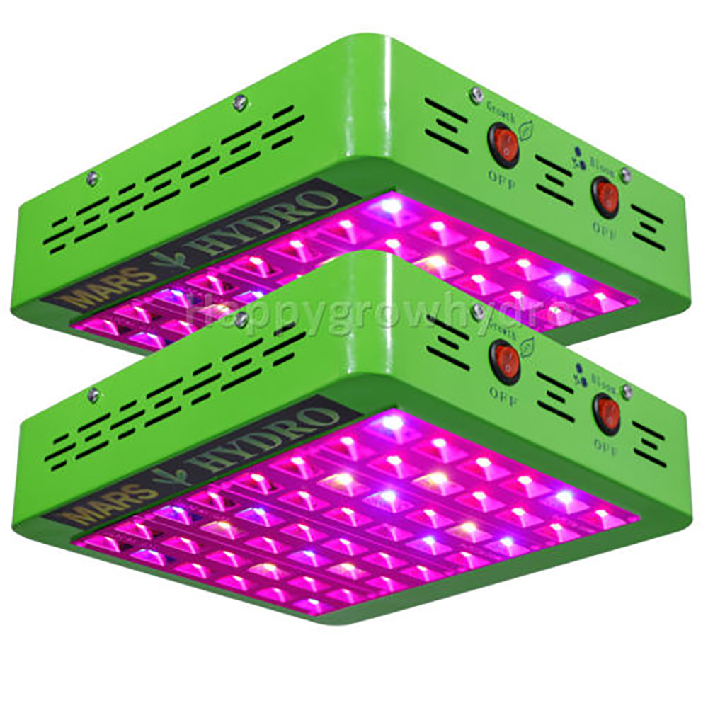 все цены на  2pcs Mars Hydro LED Grow Light Reflector240W Full Spectrum Switches+Reflector Design With IR Indoor Planting Panel  онлайн