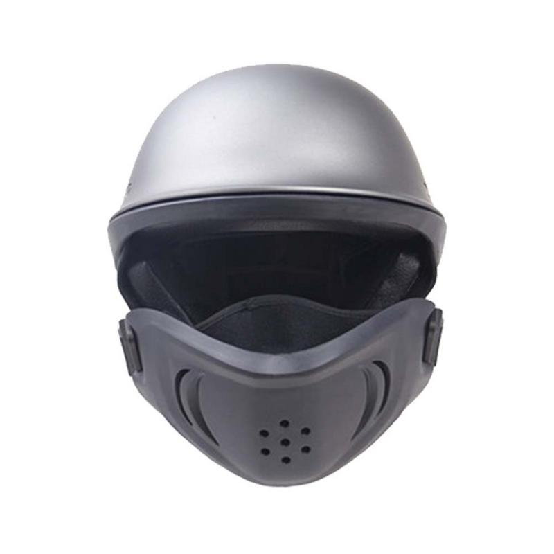 2 Colors S/M/L/XL Zombies Racing Design Rogue Helmet DOT Approved With Detach Mask Harley Helmet Ghost Motorcycle Helmet ZR-666 lesoto 666 l b silver page 8