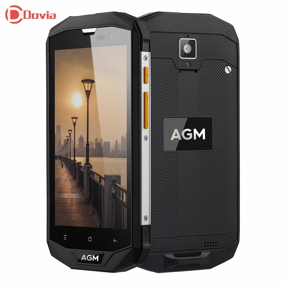 AGM A8 4G Smartphone 13.0MP Arrière Caméra IP68 Étanche 4050 mAh batterie MSM8916 Quad Core 1.2 GHz 3 GB RAM 32 GB ROM Mobile téléphone