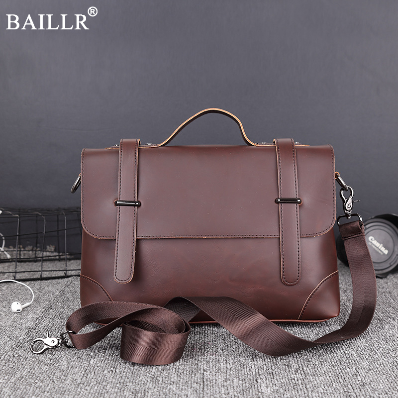 2018 New Fashion Vintage Classic Briefcase PU Leather High quality Men's Handbag Casual&Business Bags for laptop Cross body bag new fashion brand men handbags vintage brown leather briefcase business shoulder bags high quality leather laptop briefcase bag