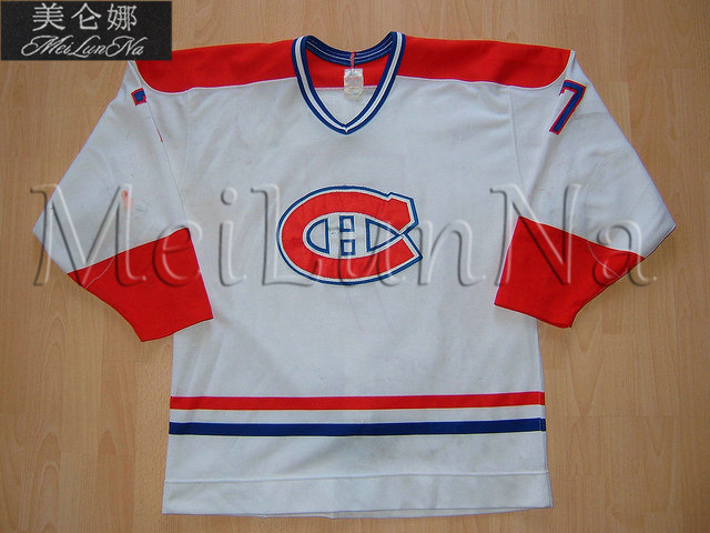 MeiLunNa Custom AHL Sherbrooke Fredericton Canadiens Hockey Jerseys 22 Hersh 7 Luc Gauthier Home Road Sewn On Any Name NO. Size
