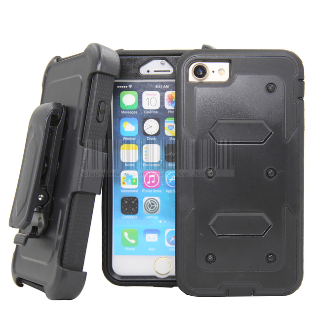 Heavy Duty Shockproof Rugged Case Holster With Belt Clip Cover For Le Iphone 5 5s Se