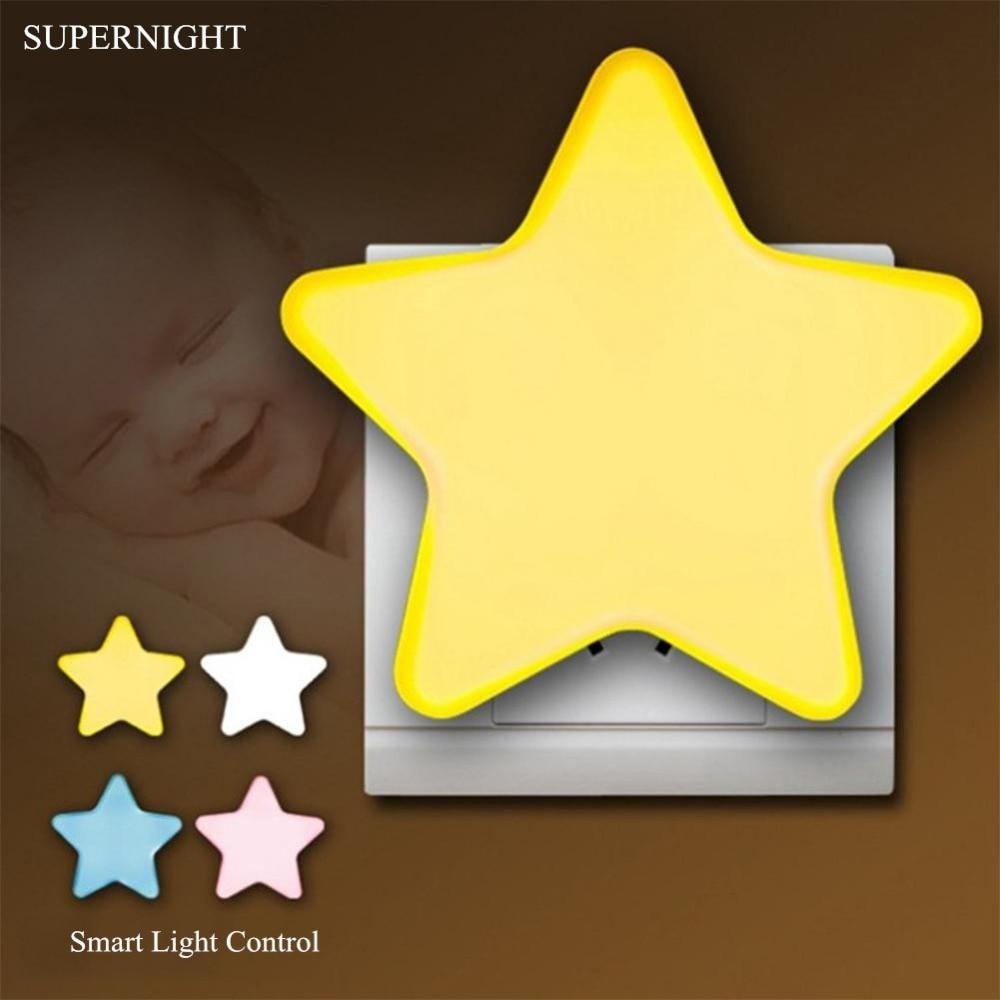 Light Sensor Control Star LED Night Light Corridor Toilet Stairs Night Lamp Bedroom Sleeping Light For Children Baby Elderly
