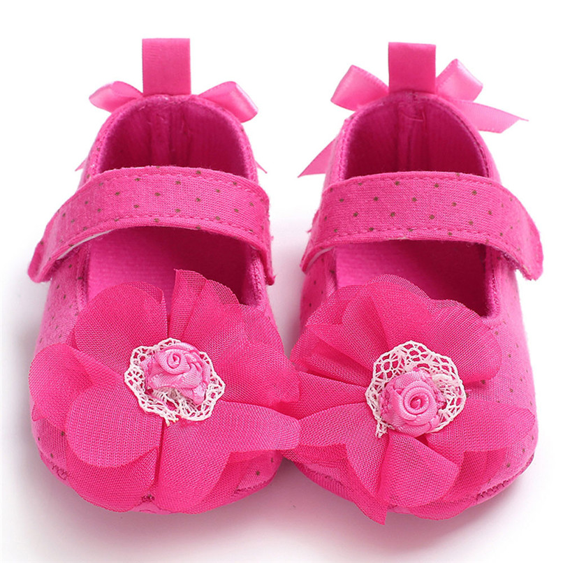 Summer Baby Infant Kids Girl Flower Soft Sole Crib Toddler Newborn Shoes First Walker NDA84L10
