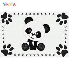 Yeele Baby Shower Panda Childroom Decor Painting Photography Backdrops Personalized Photographic Backgrounds For Photo Studio