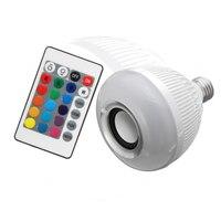 קידום Best 16 שינוי צבע מנורת LED הנורה E27 12 W RGB אלחוטי Bluetooth רמקול מוסיקה אור LED הנורה עם מרחוק שליטה