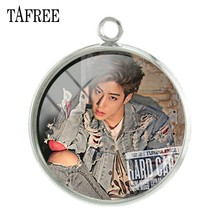 TAFREE GOT7 Music band members Charms JB Junior Youngjae BamBam Yugyeom Picture Pendants 20mm glass dome Jewelry G26(China)