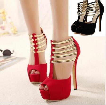 8a249be4af13 New 2017 Women s High Heels For Small Feet Outdoor Latin Salsa Dance Shoes  Open Toe Sexy Platform Pole Dance Shoes