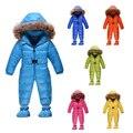 2015 nuevo llega el bebé del invierno del bebé niñas niños ropa Gruesa Caliente snowsuit Abajo mamelucos niños ropa de bebé recién nacido 1-4 años