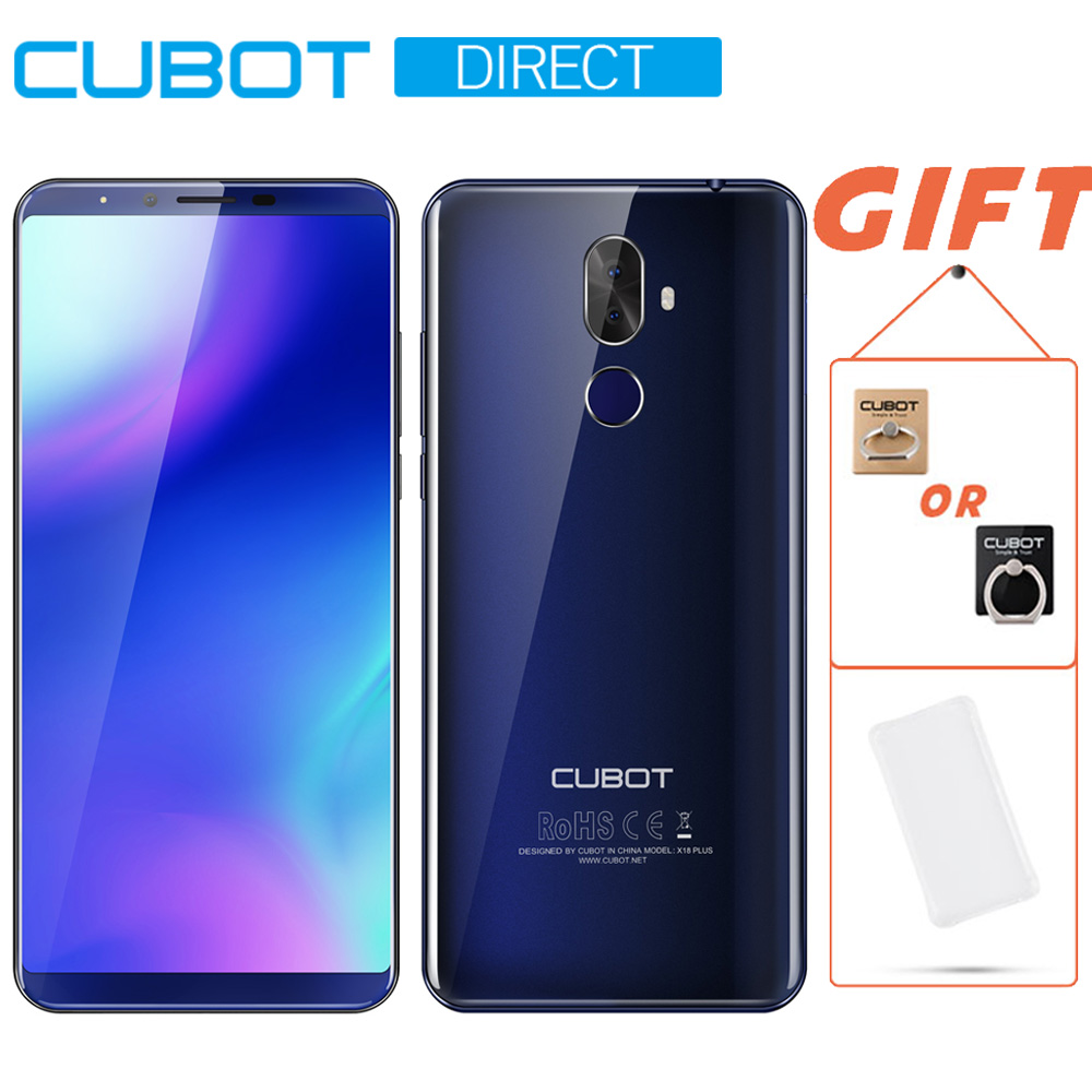Cubot X18 Plus Smartphone 5.99 18:9 FHD+MT6750T Octa-Core 4GB RAM 64GB ROM Original Android 8.0 Rear Dual Camera 4000mAh 4G LTE