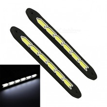 купить 2 Pcs Car Auto Day Lights 12V 6W White 6LED Daytime Running  Lamps  Wired  White + Yellow LED Car Daytime Running Light дешево