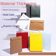 20pcs A4 A5 Kraft Paper Envelope File Organizer Document Bag 200G/250G garment storage bags Multiple sizes 2 hole punch folders