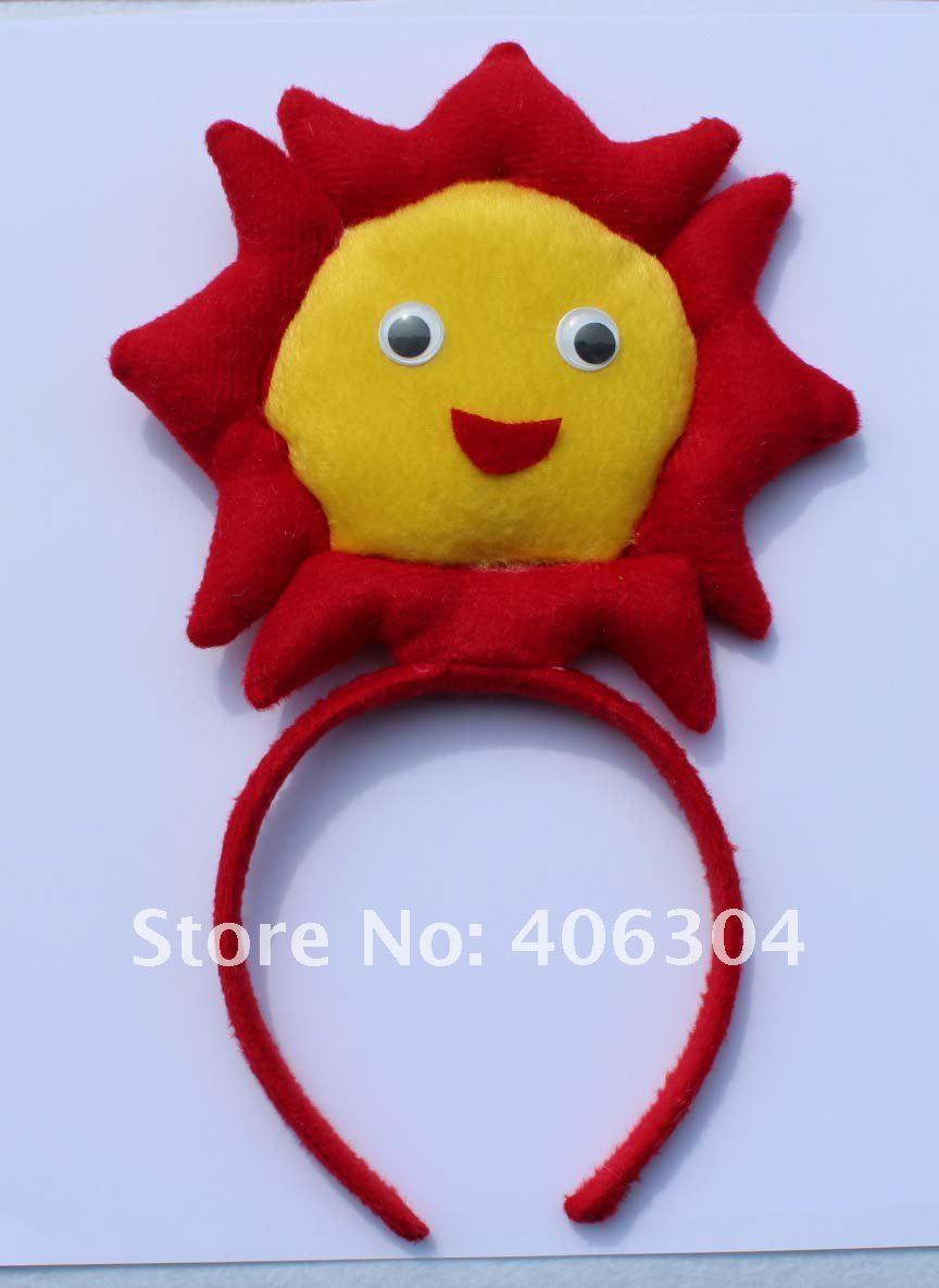 Вечерние повязки на голову с цветком солнца на Хэллоуин, праздничный обруч, на Пасху, вечерние, Рождество, день детей, карнавал
